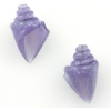 Lamp Bead Nobilis Shell 2Pc 25mm Lavender Waters